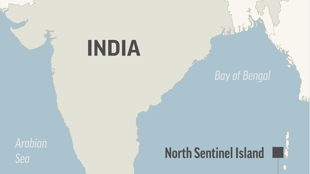 American believed killed by isolated tribe on Indian island | KTVO on map of india with latitude, map of india with weather, map of india with compass, map of india with mountains, map of india with flag, map of india with land features, map of india with geographical features, map of india with scale, map of india with landmarks, map of india with capital, map of india with seas, map of india with mount everest, map of india with himalayas, europe map with water, europe physical map bodies of water, map of india with time zones, world map with water, map of india with airports, india's bodies of water, map of india with rivers,