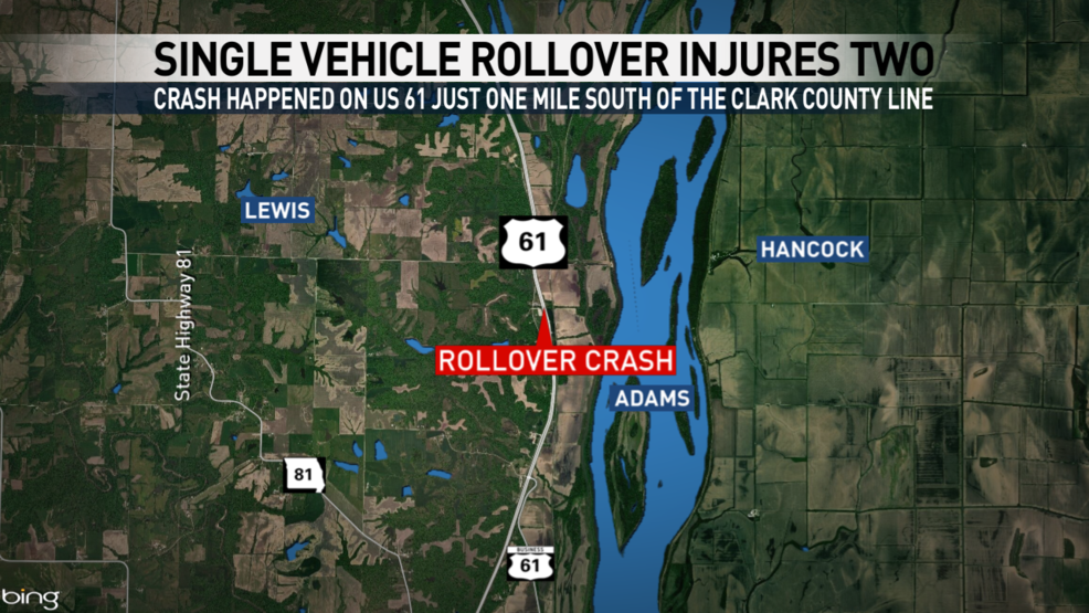 Two Injured In Single Vehicle Rollover Crash Ktvo - Us-highway-61-map