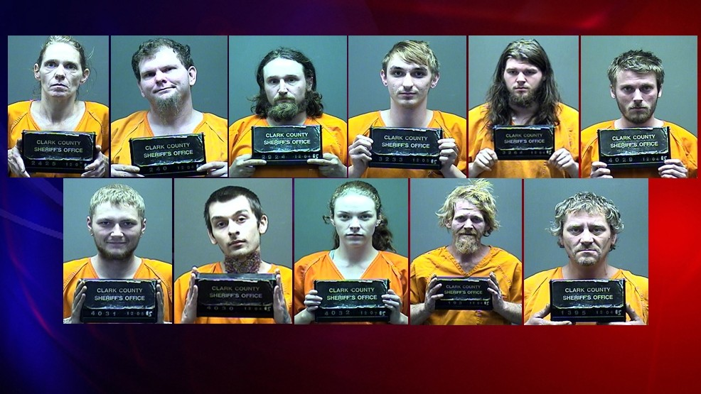 3 Clark County search warrants result in 11 arrests on same