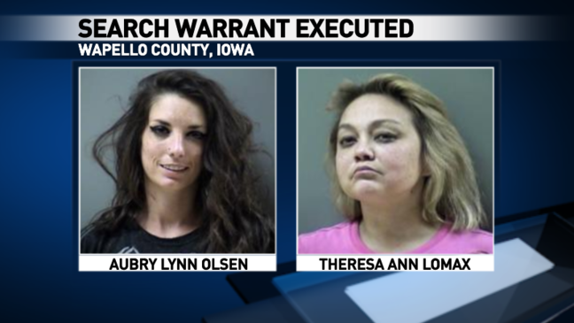 Five arrested after search warrant executed in Wapello