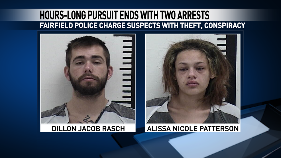 Fairfield police: Stolen vehicle pursuit ends with two
